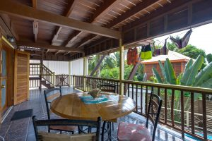 Back veranda with chairs and table